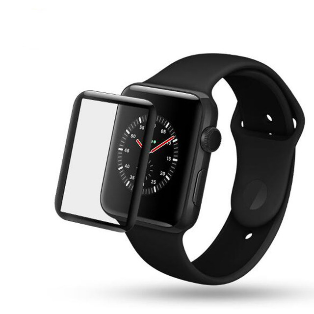 detailed look 132d7 8bf14 US $2.59 |3D Curved Full Coverage Tempered Glass Protective Film For iwatch  Apple Watch Series 1/2/3 38mm 42mm Screen Protector Cover-in Smart ...
