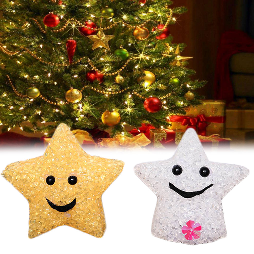 pandent christmas tree decorations resin flashing star christmas decorations for home hanging navidad colorful xmas xmas kerst in pendant drop ornaments