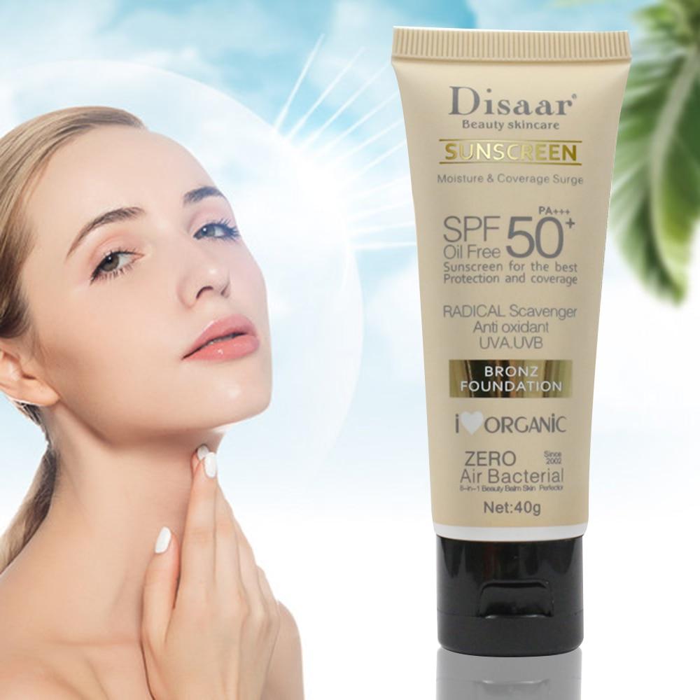 Disaar солнцезащитный крем для тела, отбеливающий крем от солнца, солнцезащитный крем для кожи, против старения, контроль жирности, увлажняющий крем SPF 90/50 TSLM1
