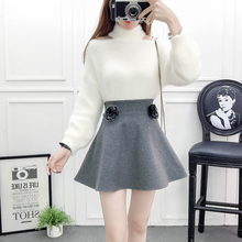 Autumn Outift Women Institute Wind Cute Fashion Suits Lady Clothing Set 2 Pcs Woolen Cloth Skirts Girl Vestidos Pullover Sweater