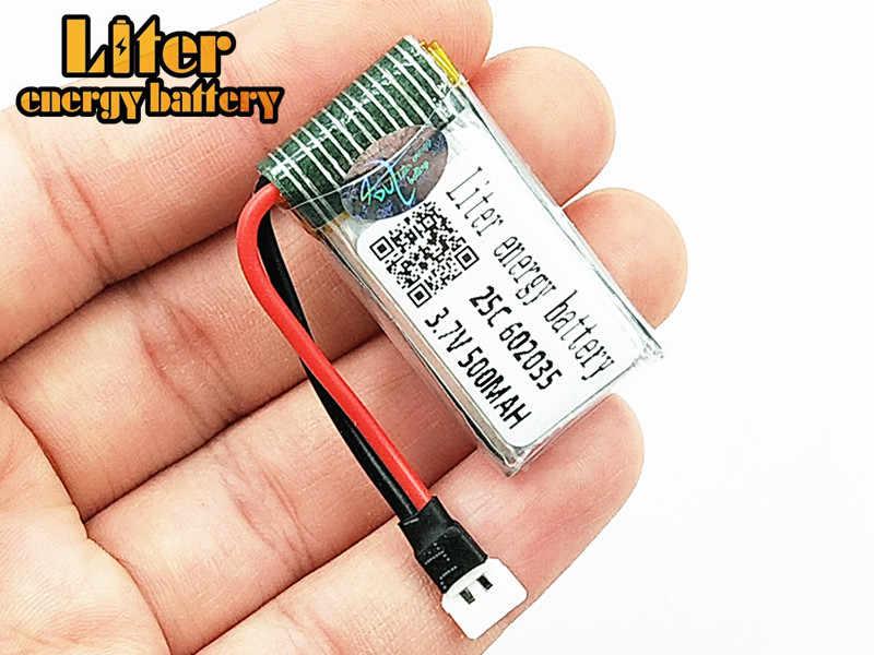 Batterie Lipo 3.7 V 500 mAh pour Hubsan h107d MJXRC F47 Difeida DFD F180 FY310B m62R 25C batterie Lipo 1 S XH plug 602035