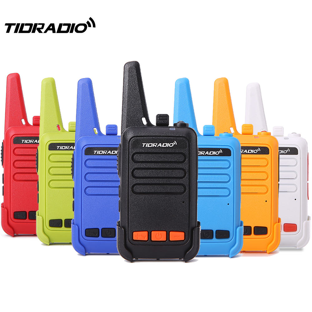 Mini Walkie Talkie 4 Pcs TD-M9 Kids Radio Station UHF 400-480MHz Walkie-Talkie Children Two Way Radio As Toy Gift