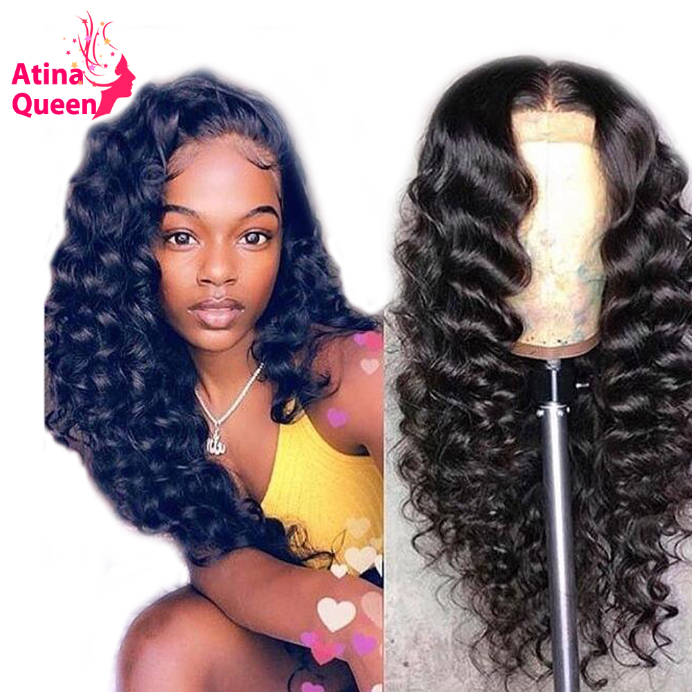 Brazilian Remy Natural Black 250% Pre Plucked Curly 360 Lace Frontal Wig With Baby Hair Lace Front Human Hair Wigs For Women-in High Density Lace Wigs from Hair Extensions & Wigs    1