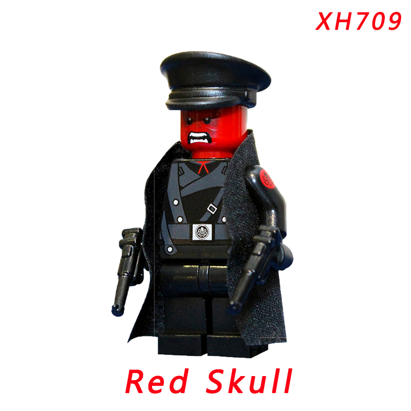 Red Skull Mini Doll Single Sale Super Heroes Sif Hela Valkyria Building Brick Figure Toys For Children pogo red hood action figure super heroes building brick toys collection single sale classic educational toys for kids gifts