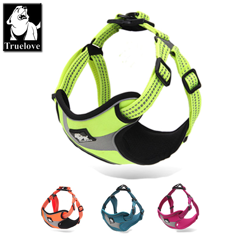 Truelove Einstellbar Easy on Dog Haustiergeschirr Outdoor Adventure 3M Reflektierende Hundehalter Schutz Nylon Walking Dog Harness Weste