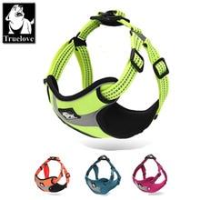 Truelove Adjustable Easy on Dog Pet harness Outdoor Adventure 3M Reflective Halter Protective Nylon Walking Harness Vest