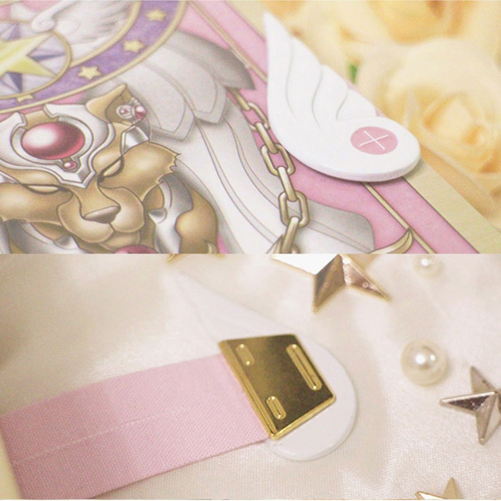 Cardcaptor Sakura Card Cosplay Card Captor Kinomoto Tarot Book With Clow Cards Magic Book Set In Box Prop Gift Phone Chain Costume Props Costumes & Accessories