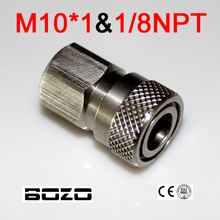Paintball Airsoft PCP AK47 Luchtdruk Rvs Vrouw Quick Disconnect fit 8mm 1/8 NPT M10 * 1
