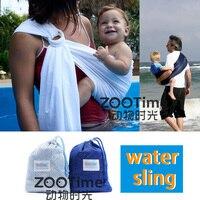 2 cores New Strong Nylon Anel Estilingue Do Bebê Dupla de Plástico Ajustável Quick Dry Infantil Chuveiro Piscina Praia Envoltório Portador de Água