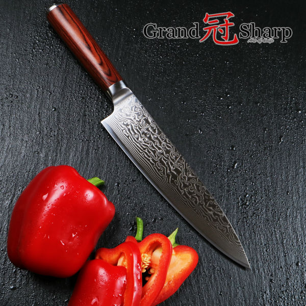 NEW 8 Inch Professional Chef font b Knife b font 67 Layers Japanese Damascus Stainless Steel