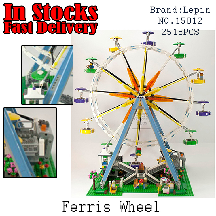 LEPIN 15012 2478Pcs City Creator Expert Ferris Wheel Model Building Kits Blocks Bricks Toys for children gifts Compatible 10247 lepin city creator 3 in 1 beachside vacation building blocks bricks kids model toys for children marvel compatible legoe