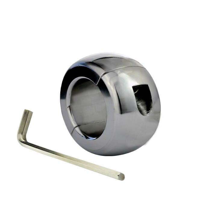 Dispositif de chasteté de civières de boule d'acier inoxydable dispositif de verrouillage de pénis de boule de civière de Scrotum