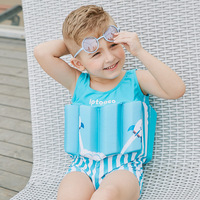 Swimwear Baby Children's Swimsuit with Hat Buoyant Force Bathing Costume Sports Suit for Baby Girls Infant Swimwear
