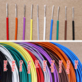 1.1 мм 24AWG посеребренные тефлон птфэ провода посеребренные Oxyten - меди кабеля 7 Strands цвет выбор