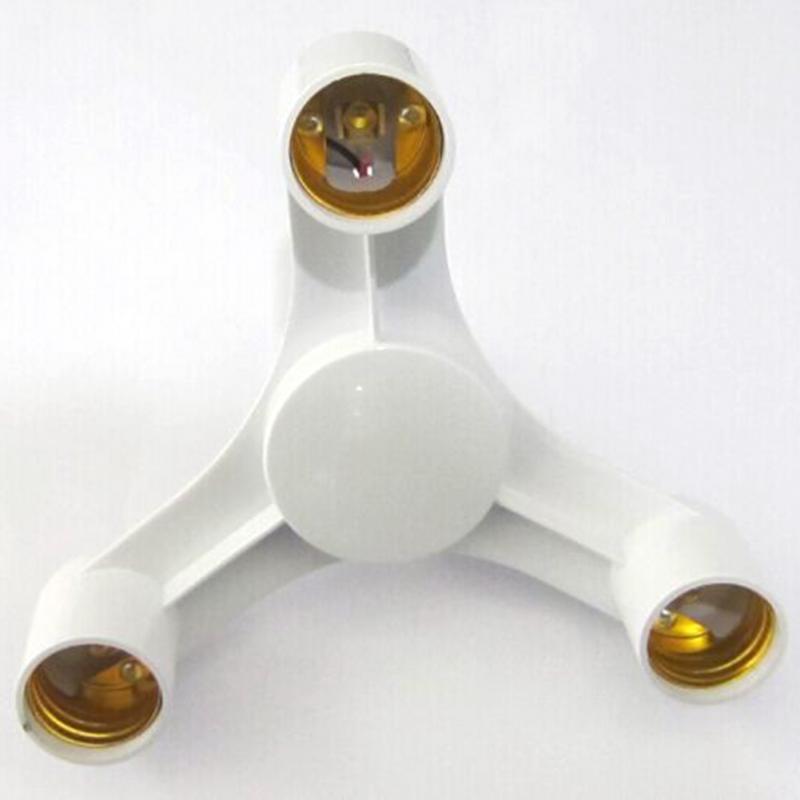 3 in 1 E27 to E27 Base Socket Splitter E27 Lamp Head connector LED Light Lamp Bulb Adapter Holder smart Lighting Accessories