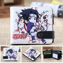 Naruto Sasuke Pu animation wallet Student wallet women&men leather pu Bifold purse