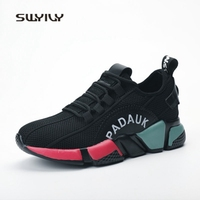 SWYIVY Women Running Shoes Mesh Breathable Colorblock Sneakers 2018 New Lace Up Anti Slip Female Sport
