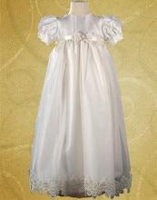 2016 мягкий свет крещение платье младенческой этаж длина 0 — 24 мес. крещение платье кружева белый / слоновая кость с створки