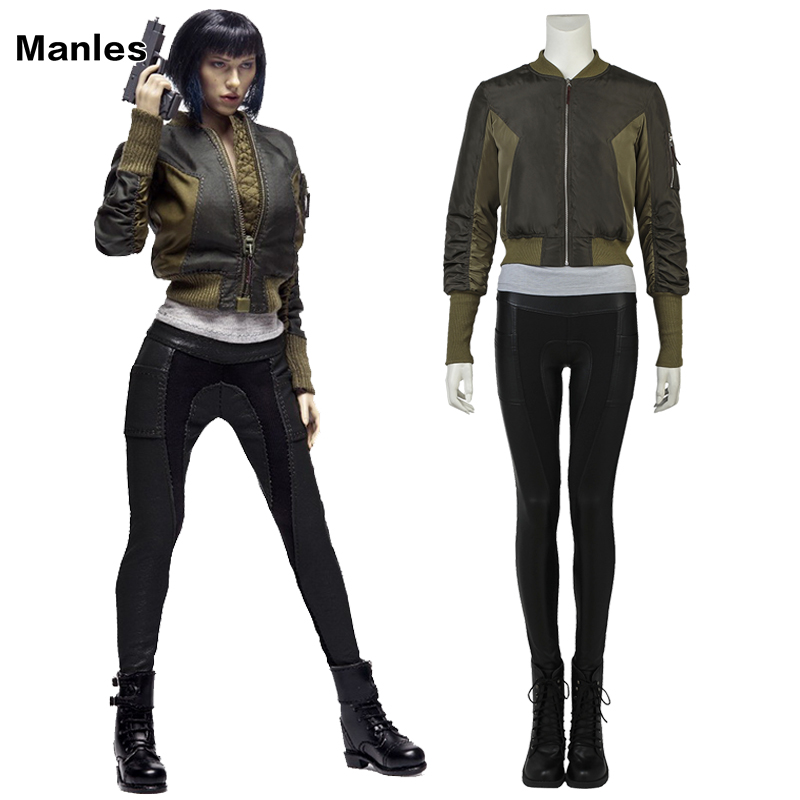<font><b>Ghost</b></font> <font><b>in</b></font> <font><b>the</b></font> <font><b>Shell</b></font> <font><b>Costume</b></font> Kusanagi Motoko Cosplay Clothes Halloween Adult Women Movie Suit Anime Clothing Female Custom Made image