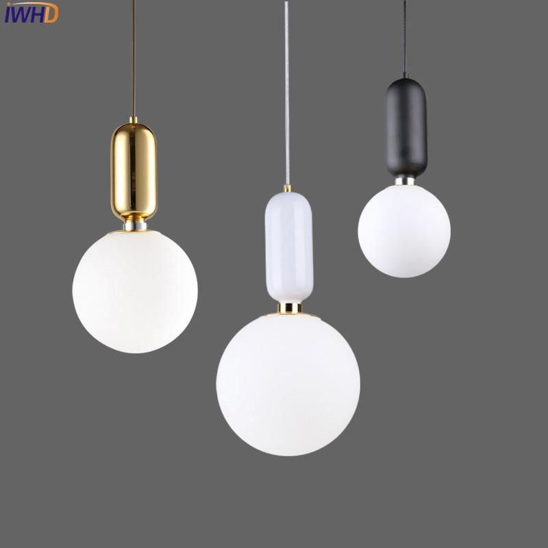 Nordic Modern LED Pendant Light Fixtures Living Room Creative Glass Ball Pendant Lamp Hanglamp Lamparas Lampen все цены