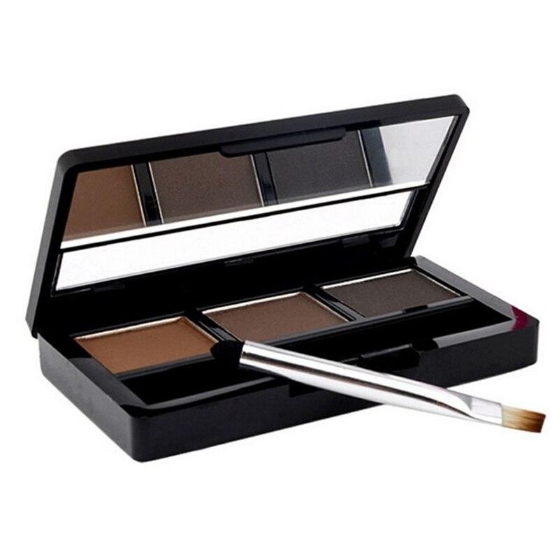 2016 New Professional Eye Brow Makeup Kit Set 3 Color Waterproof