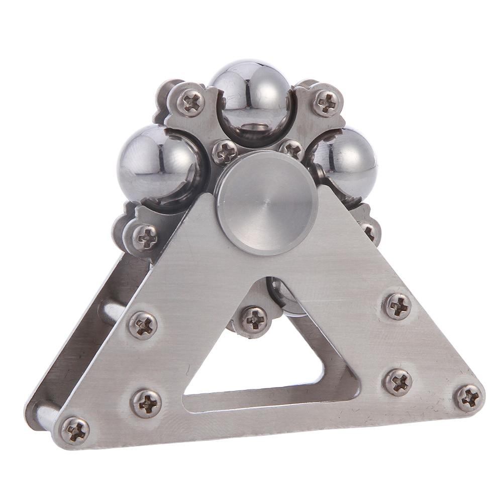 6 Stainless Steel Ball Round Wheel Fidget Spinner Aluminum Metal USA