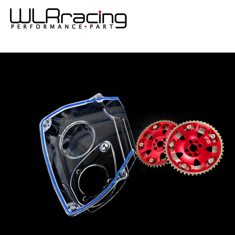 WLR RACING - Aluminum Cam Gear + Clear Cam Cover For NISSAN Skyline R32 R33 GTS RB25DET WLR6536R+6339 vr racing hnbr racing timing belt aluminum cam gear clear cam cover for mitsubishi lancer evolution evo 9 ix mivec 4g63