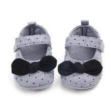 Cotton Baby Girls Shoes Infant First Walkers Toddler Girls Kid Princess Shoe Dot Bowknot Soft Anti-Slip Crib Shoes Spring Autumn цены онлайн