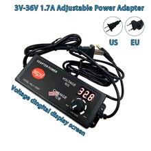 AC90V 250V do DC 3.8V 37V 1.7A regulowany zasilacz dc35V 30V 24v 22v 4.5v 7v 8v z wyświetlacz LED przełącznik prędkości silnika