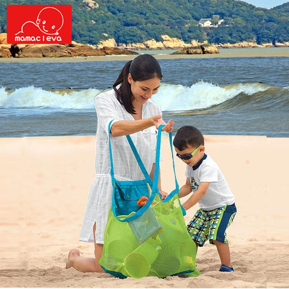 MAMACLEVA Portable Foldable Kids Beach Toys Mesh Bag Children Bath Beach Toys Pouch Bag Child Baby Tote Baskets Storage Bag