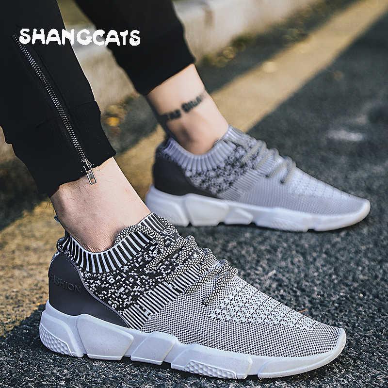 b8ae03eec1c1 ... Тренд 2018 летние носки кроссовки Мужские дышащие повседневные туфли мужские  модные мужские кроссовки супер удобные мужские