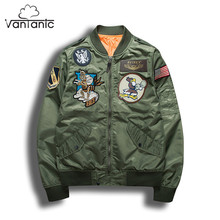 Vantanic Hip Hop Jackets Men Embroidery Patch Designs Plus Size S-3XL Streetwear Bomber Jacket Men Windbreaker Spring Coat JTC10