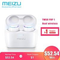 Meizu POP TW50 POP2 TW50S Dual Wireless Earphones Bluetooth Earphone Sports In Ear Earbuds Waterproof Headset Wireless Charging