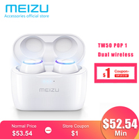 Meizu POP TW50 POP2 TW50S Dual Wireless Earphones Bluetooth Earphone Sports In Ear Earbuds Waterproof Headset Wireless Charging
