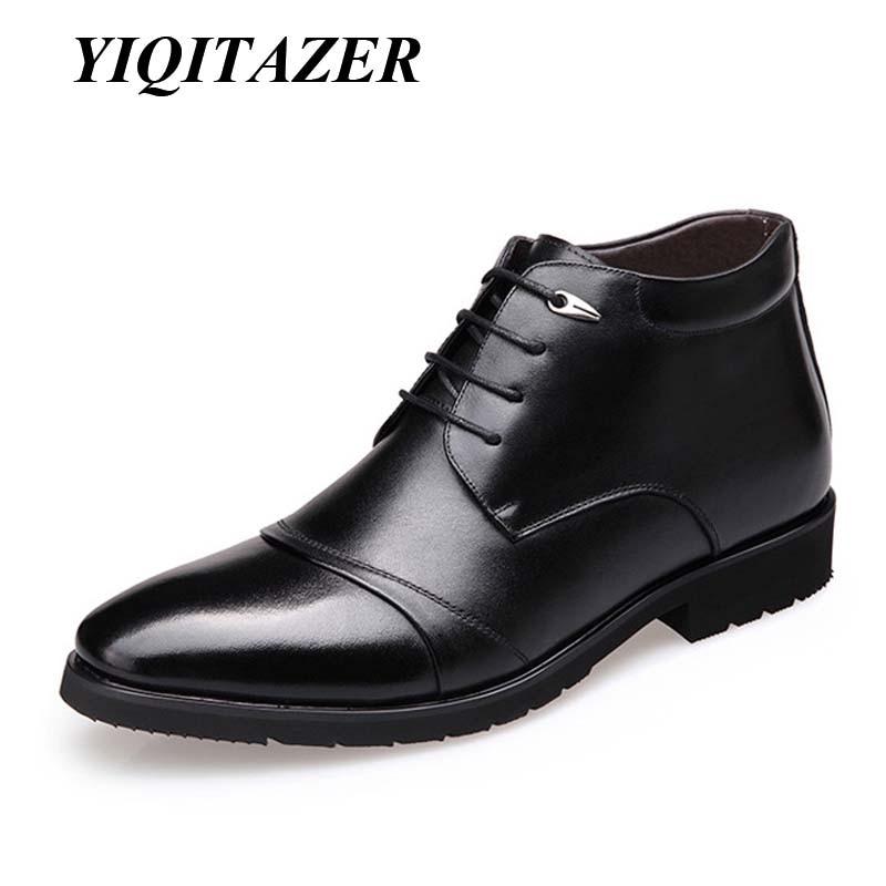2019 yiqitazer الشتاء الثلوج الرجال الأحذية الرجل الأحذية الدافئة الجلود الفراء التمهيد الرجال للماء المطاط دراجة نارية رجل قصير الأحذية