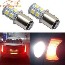 цена на 10pcs/lot 1157 13SMD Cool White BAY15D P21W 5050 LED Brake Tail Turn Signal Light Bulb Lamp DC 12V High quality