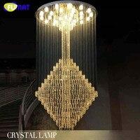 2016 светодиодный Современный K9 хрустальные люстры кристалл лампы 100% гарантия люстры де cristal criostail lamparas вилла Mall люстры