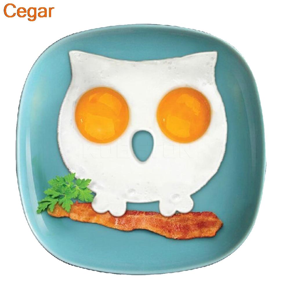 Novelty Breakfast Silicone Fried Egg Mold Pancake Egg Ring Shaper ...