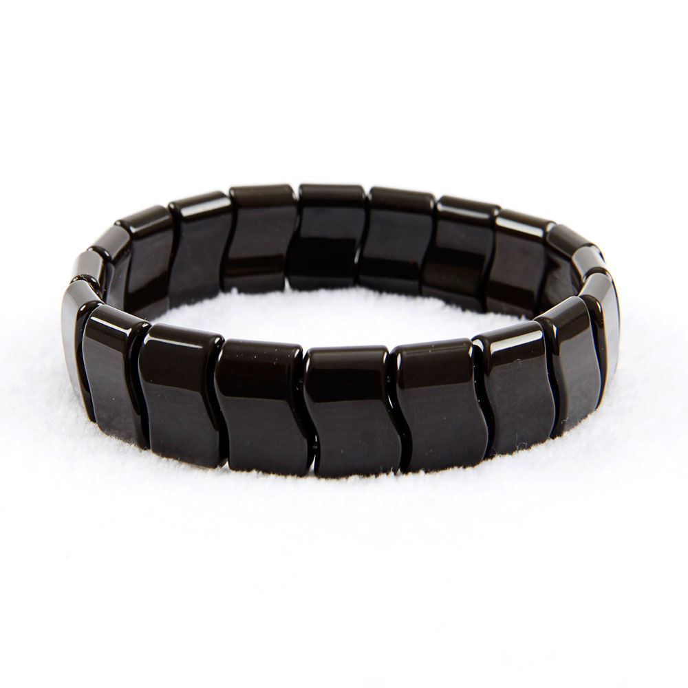 Korea Black jade sibin bianshi Bracelet, Natural Germanium bian SI Bin tone Bracelet, Negative Ion Energy Hand Chain Men Women