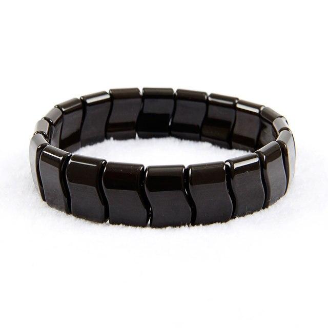 Korea Black jade sibin bianshi Bracelet, Natural Germanium bian SI Bin tone Bracelet, Negative Ion Energy Hand Chain Men Women