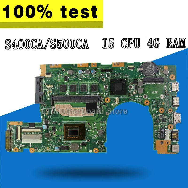 S400CA motherboard 4G RAM I5 For ASUS S400CA S500CA S400C S500C S400 S500 Laptop motherboard S500CA motherboard S400CA mainboard for asus x75vd x75v x75vc x75vb x75vd x75vd1 r704v motherboard x75vd rev3 1 mainboard i3 2350 gt610 1g ram 4g memory 100