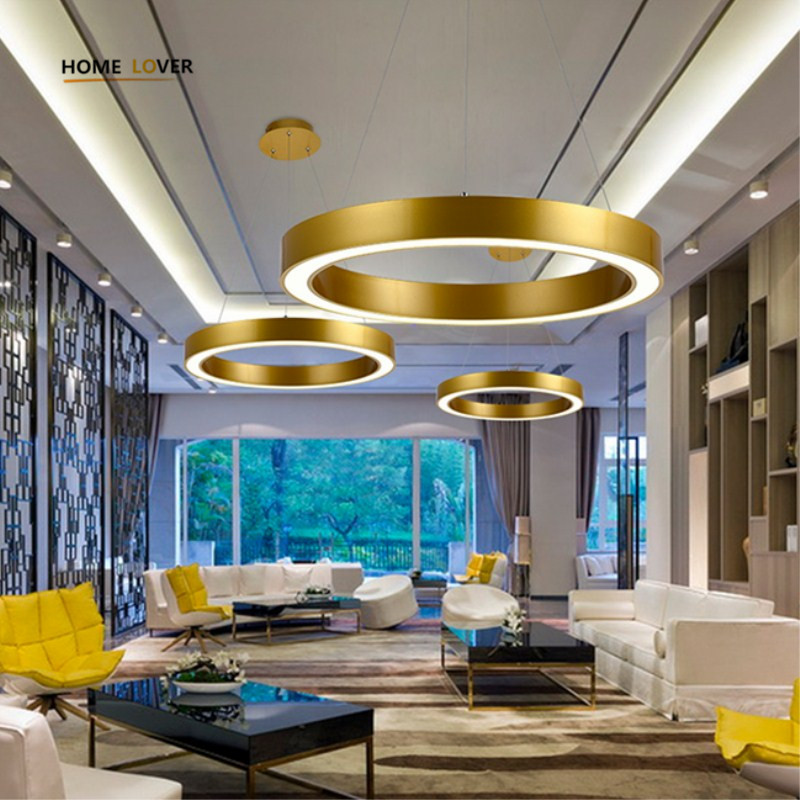 Modern pendant lights for living dining room  bedroom  Circle Suspension Luminaire indoor lighting Kitchen Lights 2016 time limited suspension luminaire basons fashion living room pendant light modern bedroom lamp brief crystal dining lamps