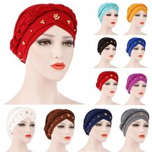 Lady Women Cancer Hat Chemo Cap Muslim Braid Head Scarf Turban Head Wrap Cover​ Ramadan Hair Loss Islamic Headwear Arab Fashion