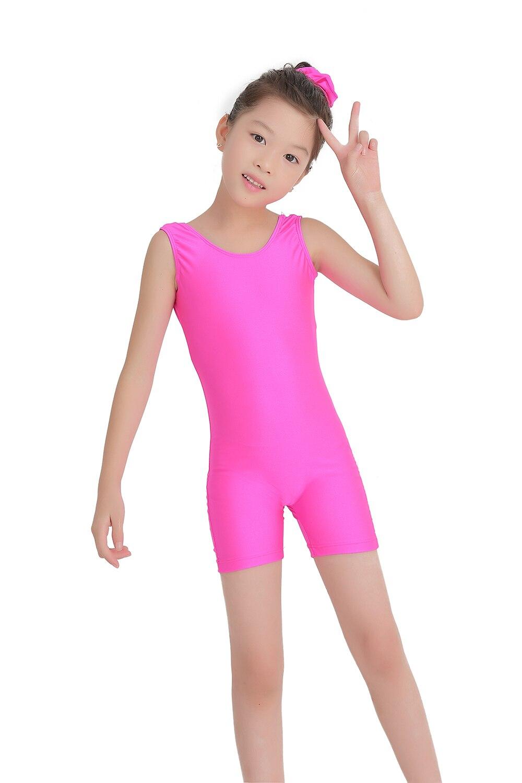 Speerise Kids Tank Biketards Girls Rose Red Gymnastics Spandex Dance Unitards Shorty Boys Bike Wear Purple Toddler Dancewear