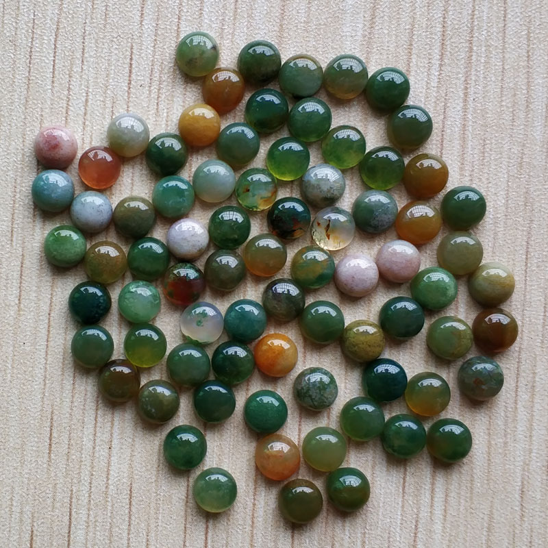 Wholesale 50pcs/lot fashion hight quality natural india onyx round cab cabochon 6mm beads for jewelry making 6mm free