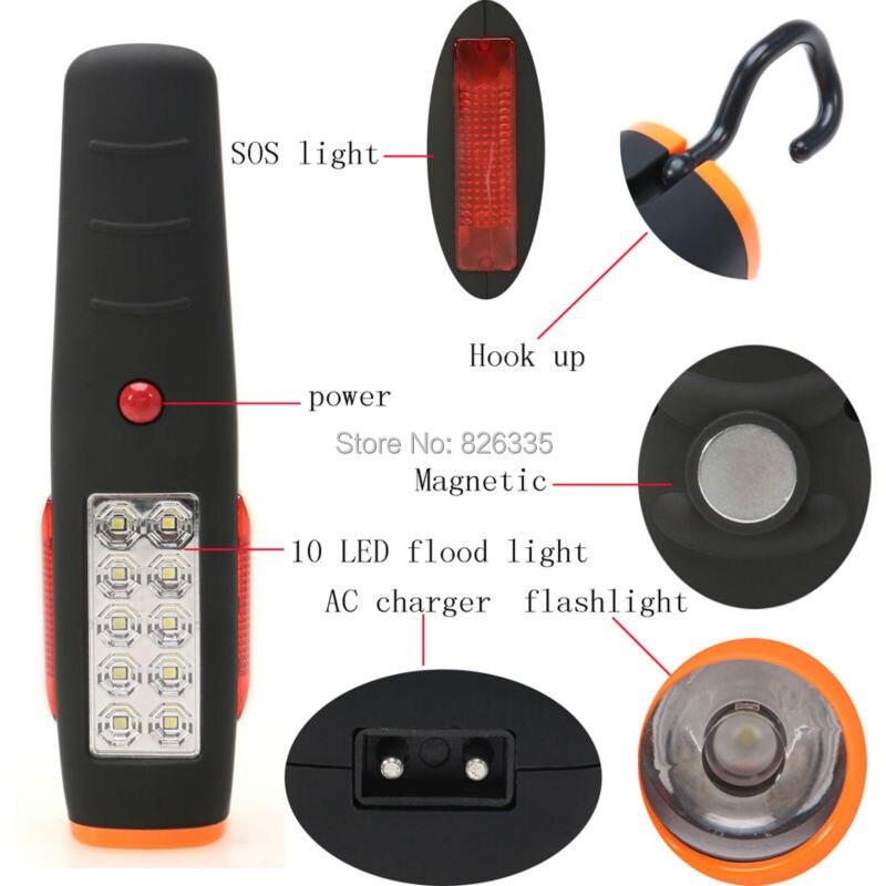 Super Bright 17 LEDs Cordless Work Light Flashlight Torch AC Charger with Magnet Hook Hanging светильник встраиваемый bright light 3x0 39w massive 59056 17 15