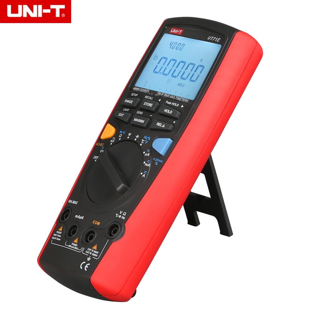 UNI-T UT71E Intelligent LCD multimètre numérique avec Interface USB testeur de fréquence mètre 39999 Max
