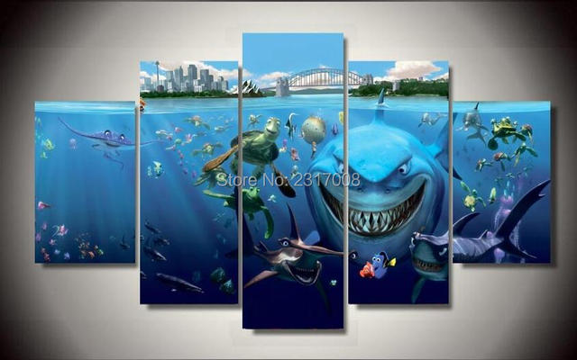 2016 Limited New No Oil Wall Art Novelty Posters Finding Nemo Canvas ...