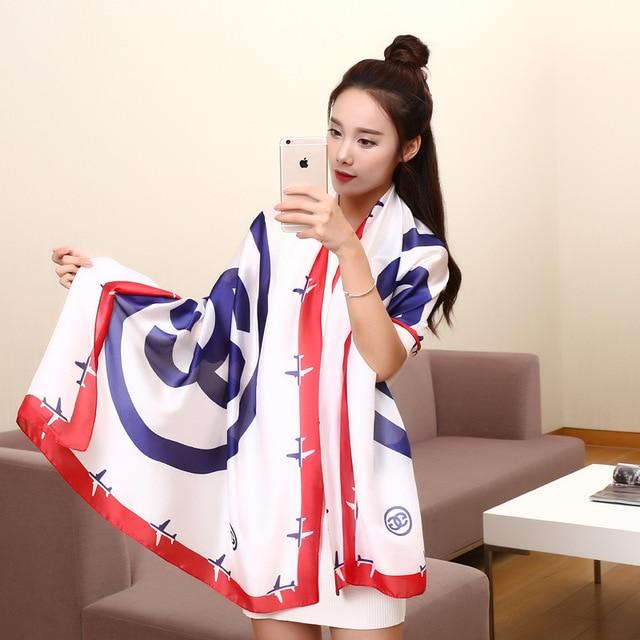 2017 Korean style spring summer fashion female super thin Scarf quality fashion sexy Shawl scarves decorated beach aircraft wj31