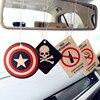 2pcs Truck Car Hanging Perfumed Fragrance Papers For Hero Air Freshener Car Perfume  Air Freshener Captain America Superman 3